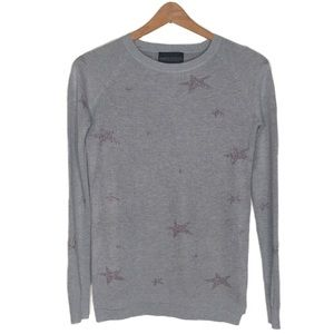 Stitch fix sweater pullover grey with stars xs